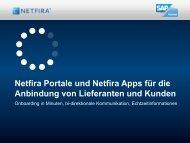 Netfira Portale und Netfira Apps für die Anbindung von Lieferanten ...