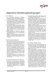 Allgemeine Bestellbedingungen, DE - Axpo