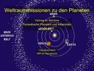 Weltraummissionen zu den Planeten