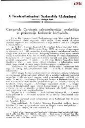 Campanula Cervicaria calycanthemiája, petaloídiája és pleiotaxiája ...