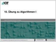 10. Übung zu Algorithmen I