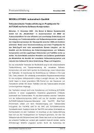 Pressemeldung (pdf) - Berner & Mattner