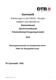 Broschüre für P-Übungen 2010 - Badischer Turner Bund