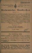 Biochemisches Handlexikon. Sachregister des vollständigen ... - Seite 7