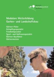 Prospekt Garten- und Landschaftsbau - bei der kantonalen ...