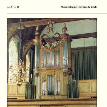 Minnertsga, Hervormde kerk - Welkom bij Dutch organs