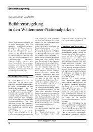 Befahrensregelung in den Wattenmeer-Nationalparken - SDN