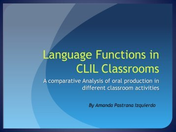 The use of interpersonal language in CLIL - Ichm.org
