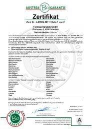 Zertifikat - formica