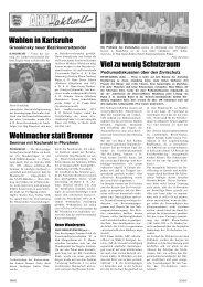 Wahlen in Karlsruhe Wohlmacher statt Bronner Viel zu wenig Schutzraum