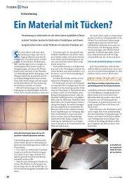 Ein Material mit Tücken? - Stone Solution Ltd.