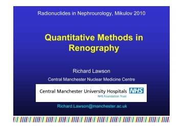 Quantitative Methods in Renography - Nucleus