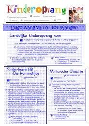 brochure kinderopvang - Gemeente Duffel
