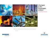 analyse - Emerson Process Management