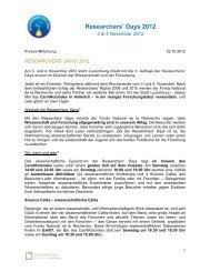 Researchers' Days 2012 - Gouvernement du Grand-Duché de ...