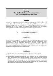 Satzung über das Friedhofs- und Bestattungswesen ... - Stadt Zülpich