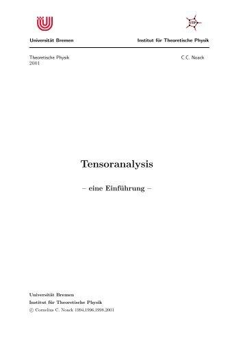 Tensoranalysis - Institut für Theoretische Physik - Universität Bremen