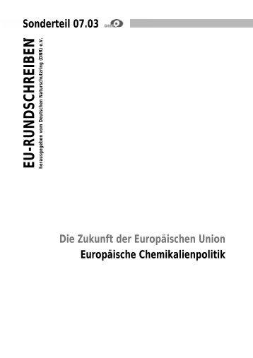 Europäische Chemikalienpolitik - EU-Koordination