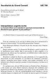 IUE 708 - Interpellation urgente ecrite de M ... - Etat de Genève