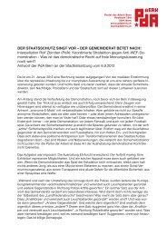 Interpellation Rolf Zbinden (PdA): Koordinierte ... - PdA Bern