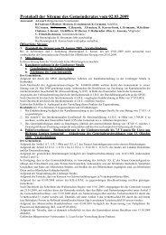 Protokoll der Sitzung des Gemeinderates vom 02.03.2009 - Lontzen