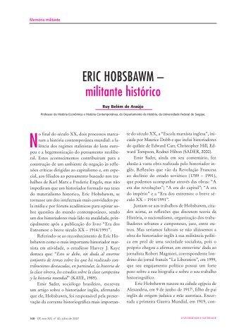 ERIC HOBSBAWM – militante histórico