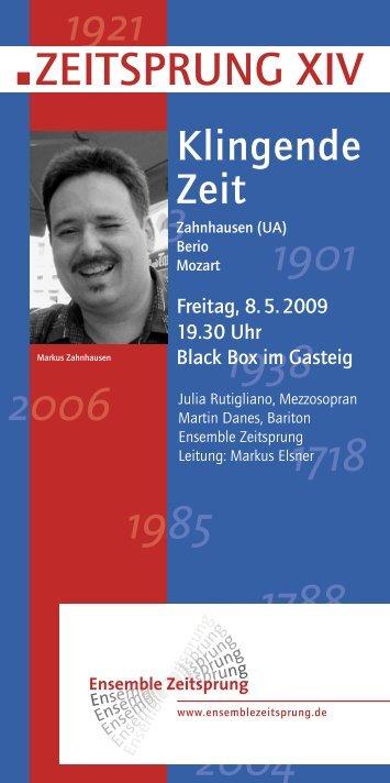 ZEITSPRUNG XIV - Ensemble Zeitsprung
