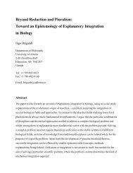 Beyond Reduction and Pluralism - University of Alberta