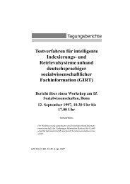 Testverfahren für intelligente Indexierungs- und ... - DWDS