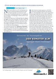 DER KEMATER ALM - Almenrausch