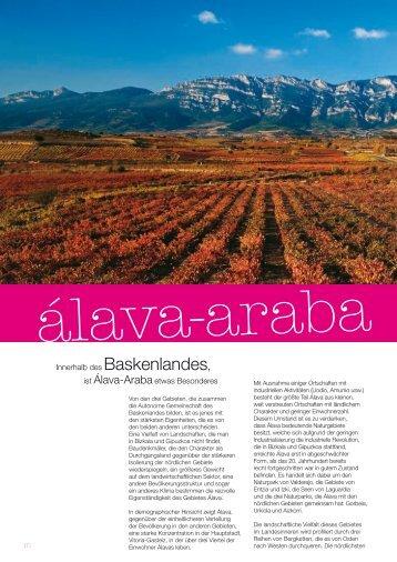 Innerhalb des Baskenlandes, ist Álava-Arabaetwas ... - Euskadi