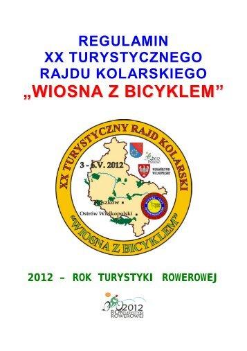 regulamin rajdu (.pdf) - Komisja Turystyki Kolarskiej ZG PTTK