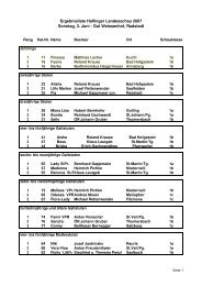 Ergebnisliste Haflinger Landesschau 2007 Sonntag, 3. Juni - Gut ...