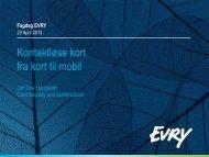 Kontaktløse kort fra kort til mobil - Evry