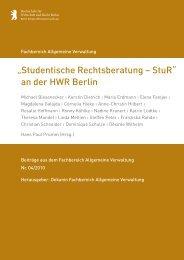 Studentische Rechtsberatung – StuR - Hochschule für Wirtschaft ...