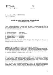 Delibera n.22 del 10.12.2009 - Comune di Roma