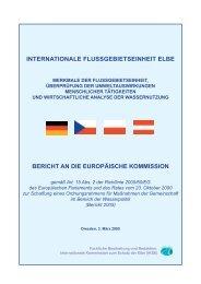 internationale flussgebietseinheit elbe - bei der Internationalen ...