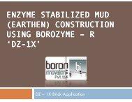 ENZYME STABILIZED MUD (EARTHEN) CONSTRUCTIO ... - Imimg