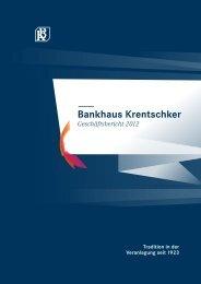 Anhang zum Jahresabschluss 2012 - Bankhaus Krentschker & Co ...