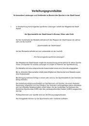Verleihungsgrundsätze - Kassel
