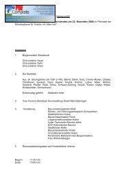 Niederschrift über die öffentliche Sitzung des Gemeinderates am 22 ...