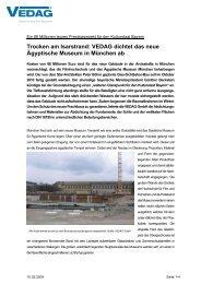 VEDAG dichtet das neue Ägyptische Museum in München ab