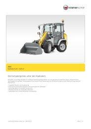 Technische Daten Kramer Radlader 350 als PDF Download