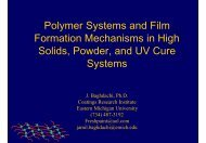 Polymer Systems and Film Formation Mechanisms in High Solids ...