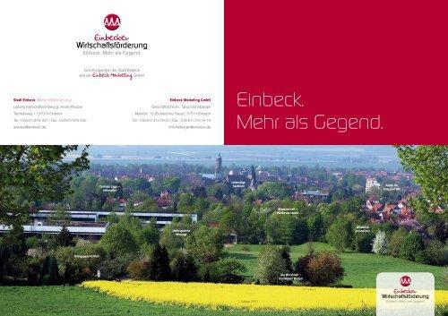 Einbeck. Mehr als Gegend. - Ilmebahn GmbH