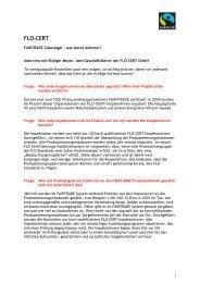 FLO-CERT Interview - Fair Trade