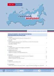 Russland-Analyse Nr. 245 - Laender-Analysen