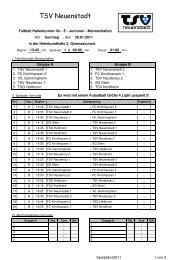 E-Junioren-Hallenturnier - TSV-Neuenstadt