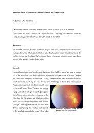 Therapie einer Acremonium-Endophthalmitis mit Caspofungin K ...