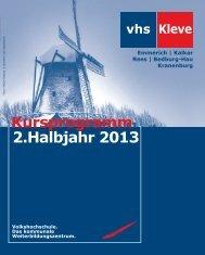 Das Programmheft der Volkshochschule 2. Halbjahr 2013 als pdf ...